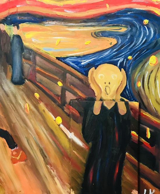 鲁雨彤 10岁 黄金时代 油画
