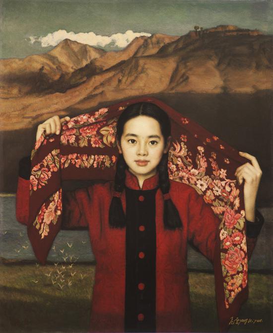杨飞云 西北的云 丝网版画 90×74 cm 2002