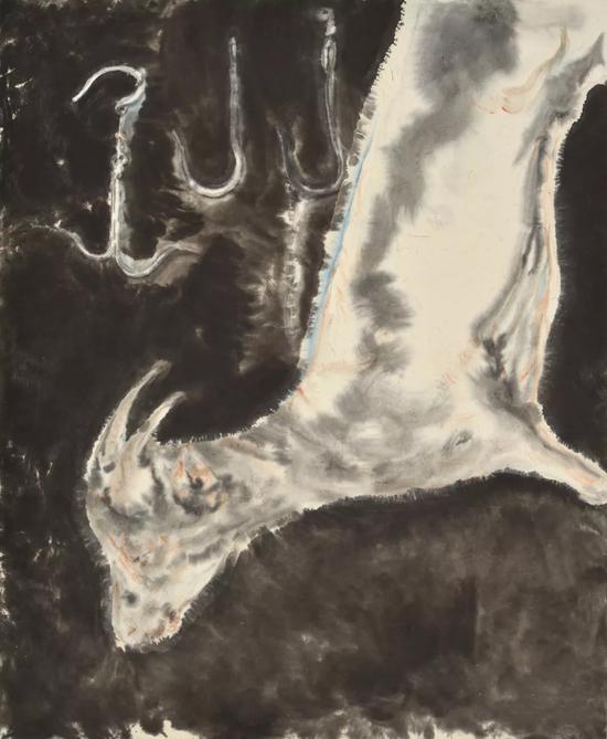《触碰的仪式》 国画 64cm×52.5cm 2017年