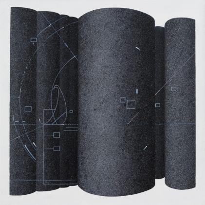 《伪秩序》布面丙烯,60 x 60 cm,2017