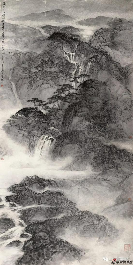 王飞飞 《溪水中兮绕岭流》 248cm×129cm