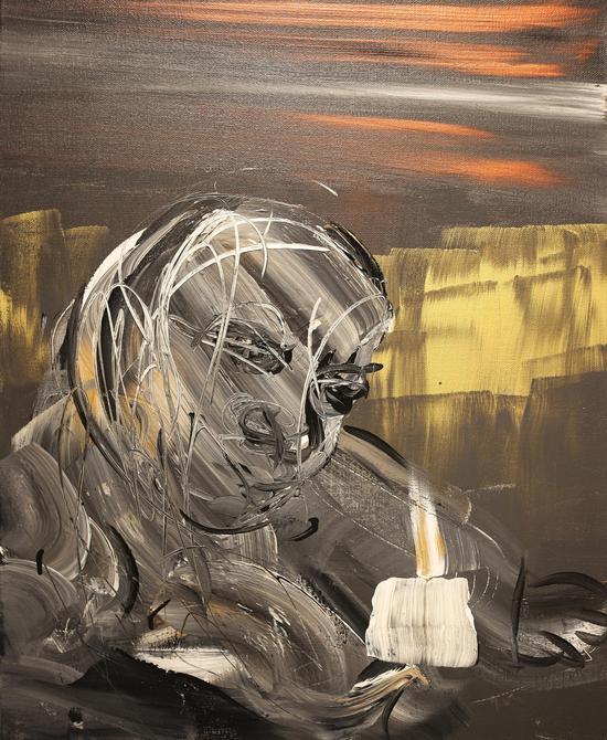 《天界之光No.31》 油画 亚麻布、丙烯 80×60 cm 2017