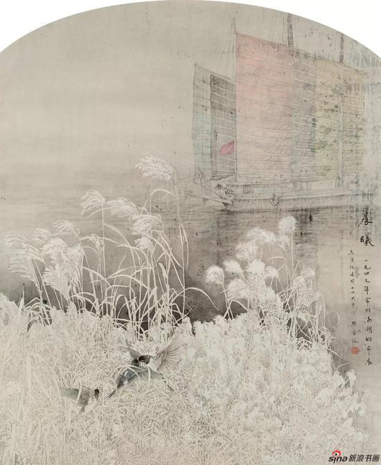 《1949年10月常州滆湖晨曦》 237cm×192cm 樊蕾