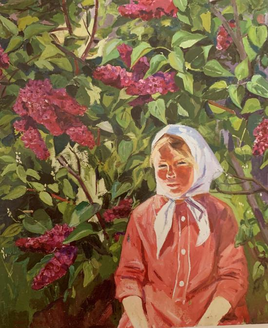 《丁香樹下的奧莉佳》賽金(俄羅斯)1976年 64x75cm