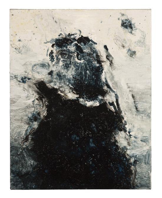 《劲·进—伫14》35x45cm 水性树脂 2014