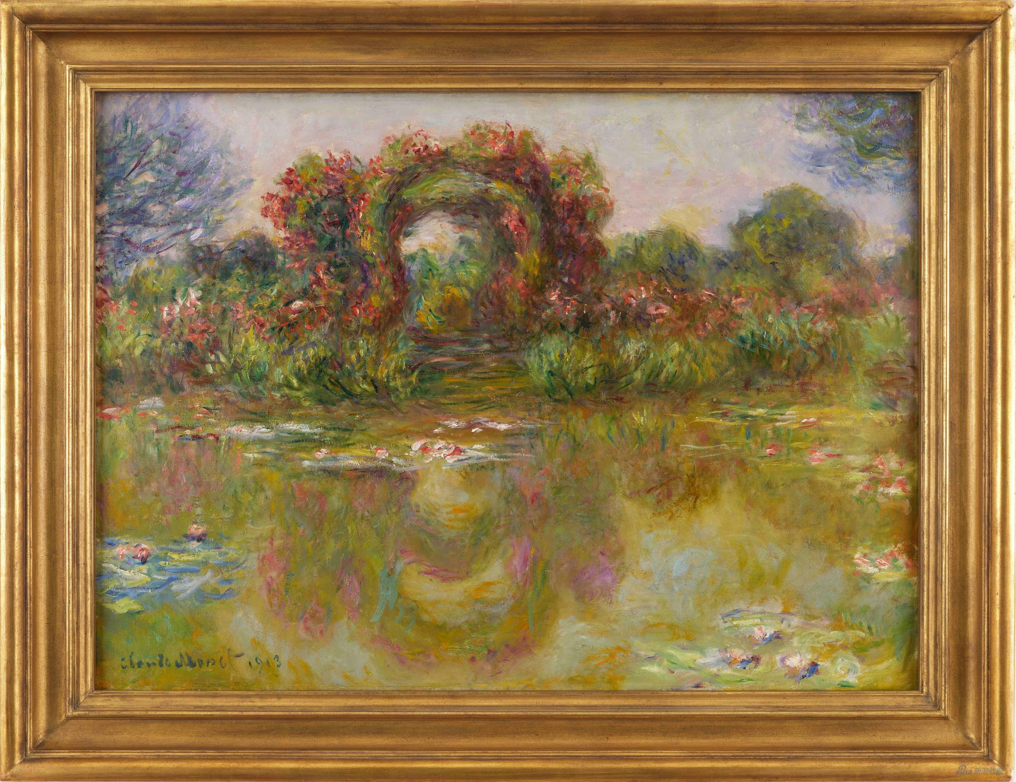 克劳德 莫奈 睡莲池与玫瑰