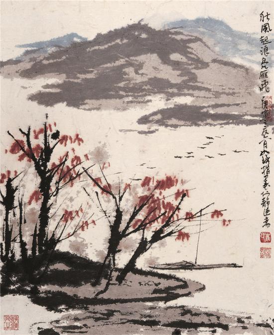 秋风起浪凫雁飞 2010年 47×37cm