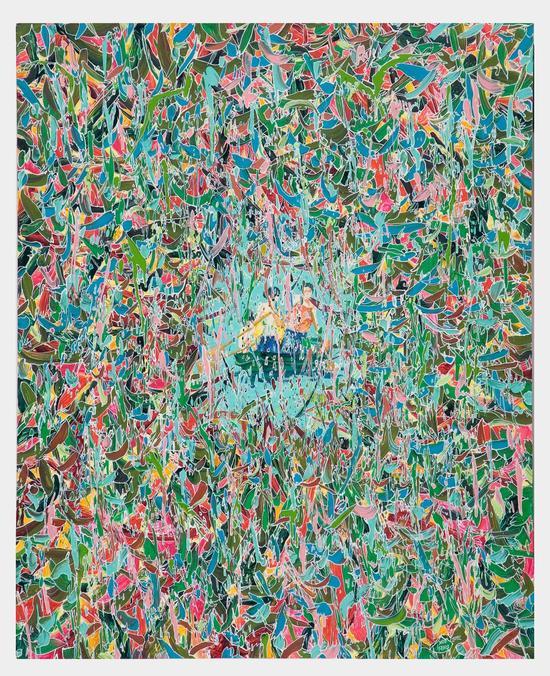 薛峰,《倒叙33》,布面油画,100×80cm,2012