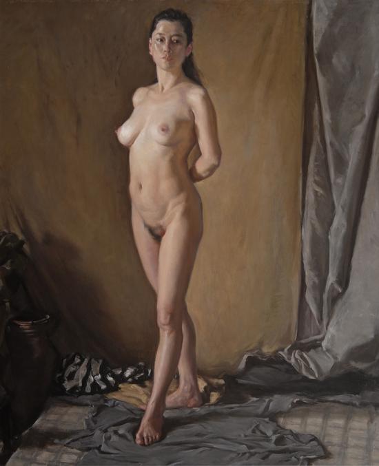 《站姿女人体》160×130cm_2016年