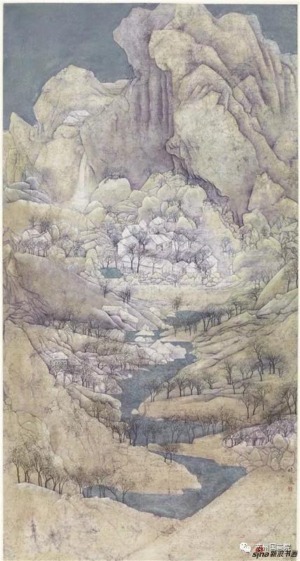 段晓丽 山静水幽 180×90cm