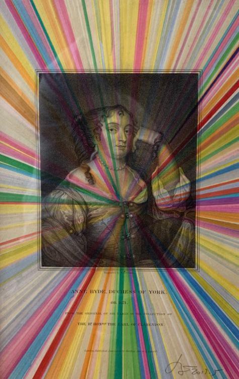奚建军 安娜-约克公爵夫人1671 26x16cm 纸上绘画2017