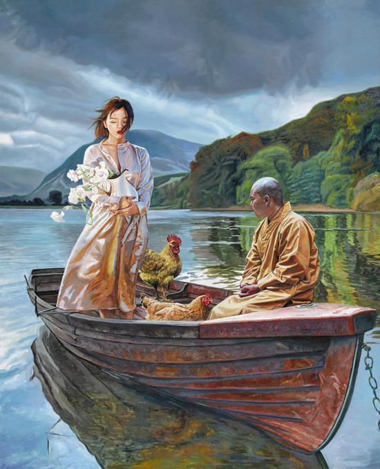 回娘家Coming home布面丙烯Acrylic on Canvas 150x120cm 2018