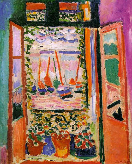 《打开的窗户科里乌尔》Open window collioure, 1905. 亨利.马蒂斯