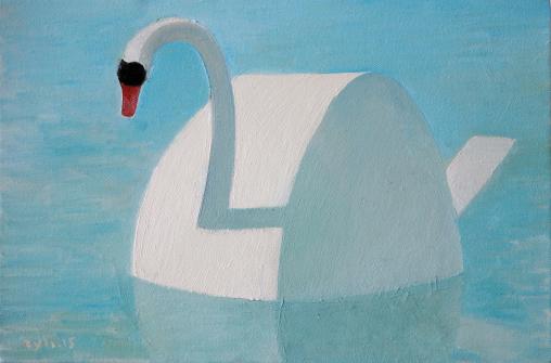 白天鹅 40x60cm 布面油画 2015