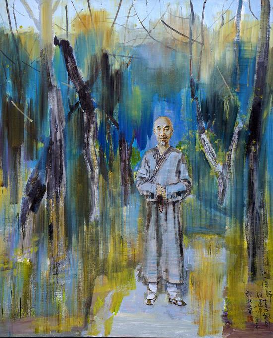 12《悲欣交集 弘一法师李叔同》孙建平 160cm×130cm 布面油画 2014年