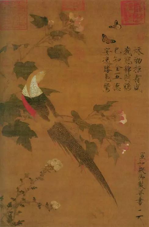 (图6) 宋 赵佶 芙蓉锦鸡图