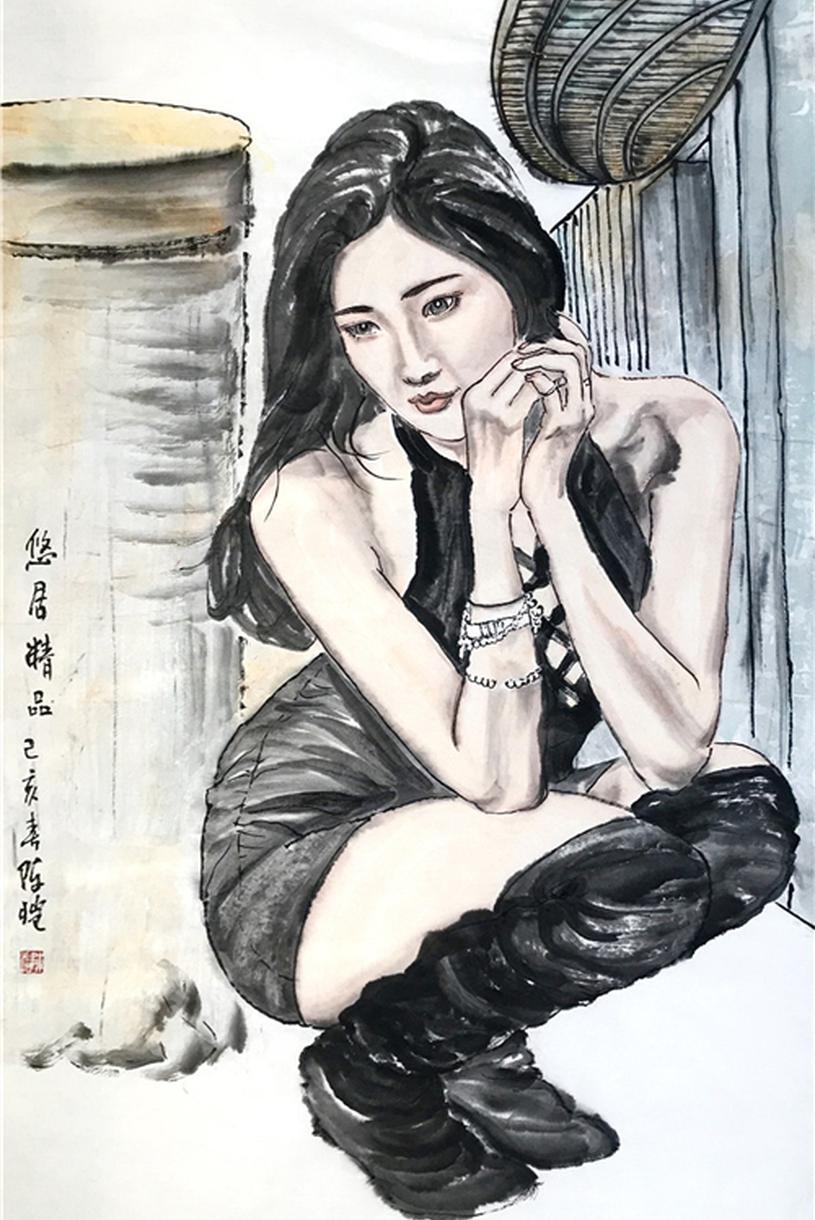 翰墨丹青:解读陈恺的水墨人物画作品