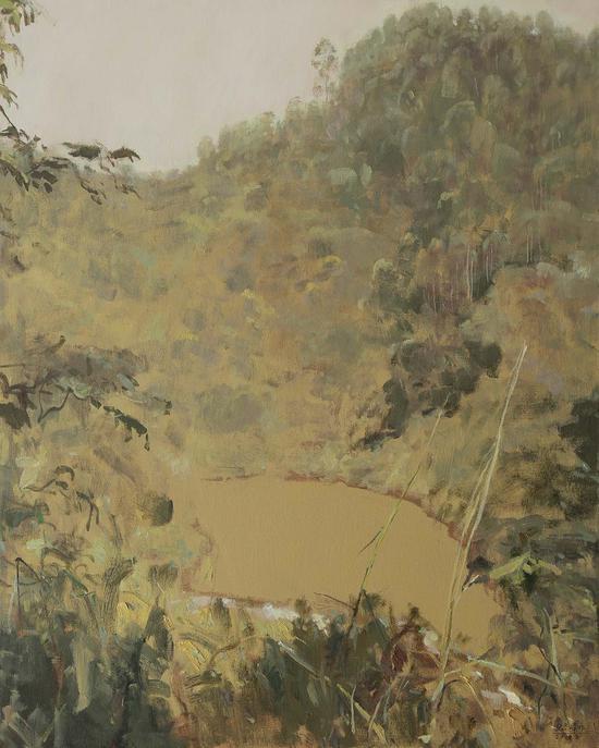 42《这片林·这池水》张冬峰 100cm×80cm 布面油画 2018年