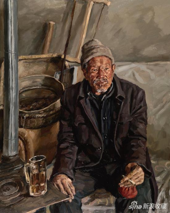 杨飞云《冬暖》布面油画 100×80cm 2017 年