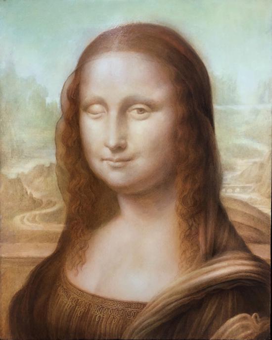 蒙娜丽莎向达芬奇致敬杨帆-
