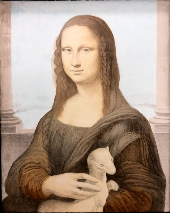 抱貂的蒙娜丽莎-周晓红