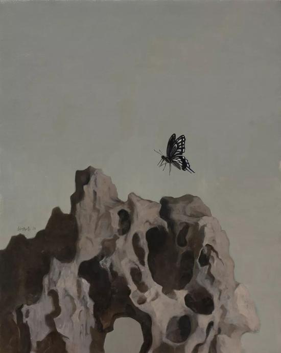 钟鸣峰【梦蝶】  40×50cm  布面油画   2018