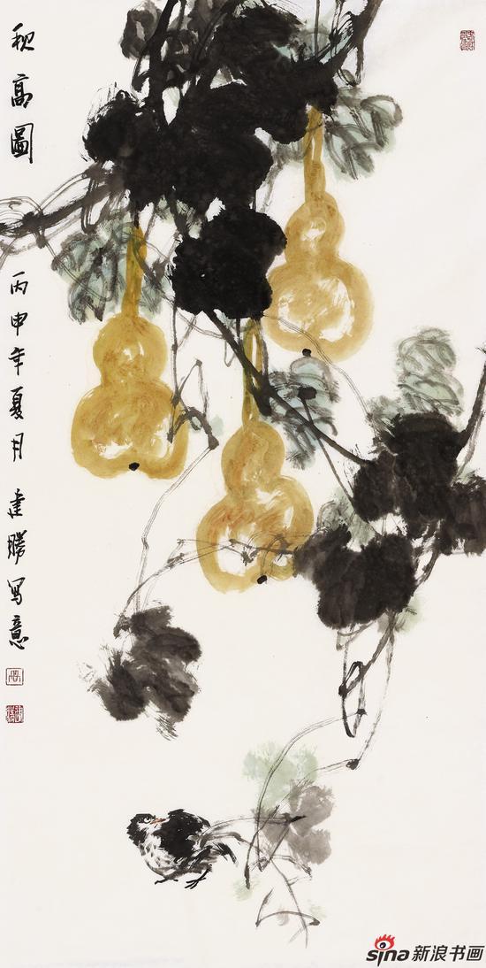 高建胜作品-秋高图-138x70cm