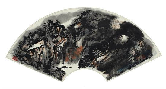 《林壑有声》(中国画)