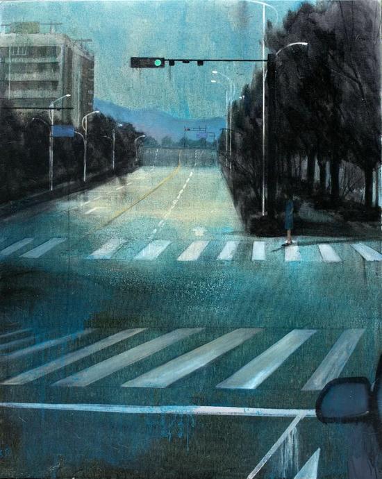 王瑾《云上的城市》布面油画 100x125cm 2016