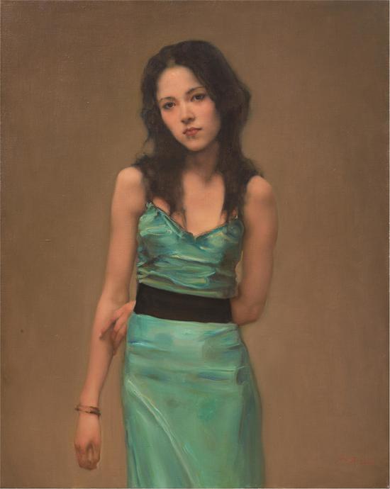 庞茂琨 游离者之六 100x80cm 布面油画 2005年
