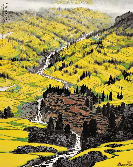 山乡的花季 180×145cm 2009年
