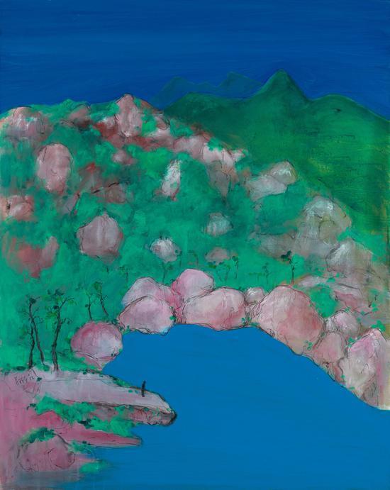 郑在东 天池 Tianchi Lake布面丙烯 130x165cm-2012