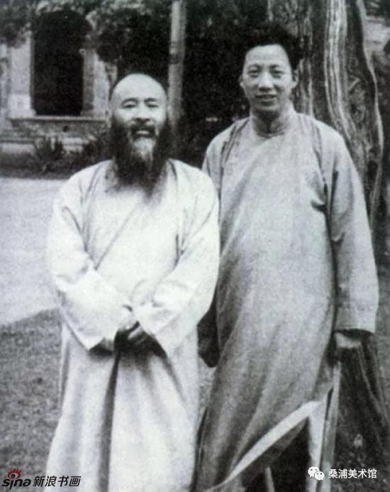 陈从周(右一)与张大千