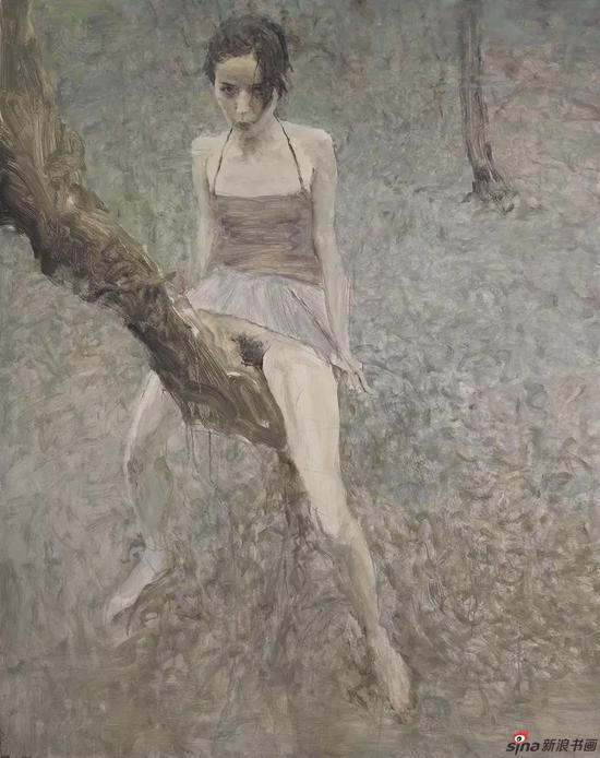 落叶 布面油画 150x120cm 2007
