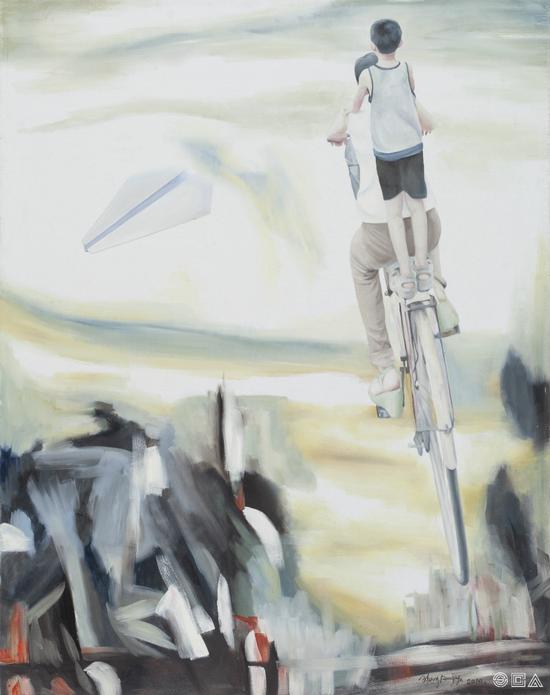 《travel No.35》 油画 布面、油彩 134×105cm 2010