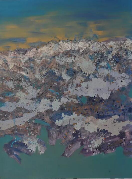 张杰《茫之境》之二 200cm×150cm 油画 2013