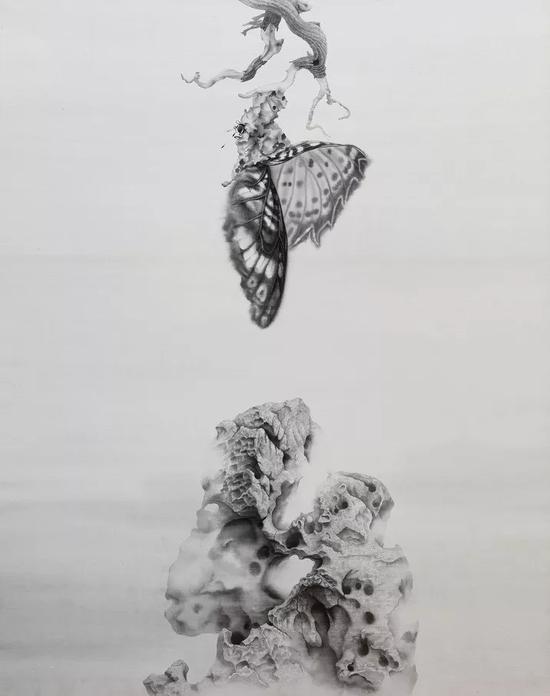 《出》 2018年 绢本水墨 178x136cm