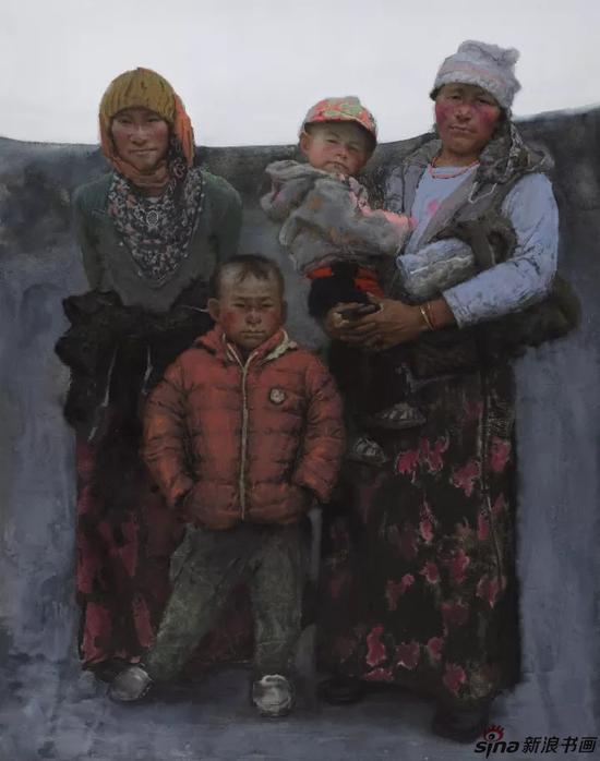 《高原红》纸面色粉180cm×145cm /2016年