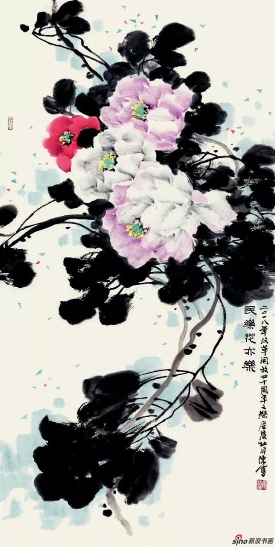 《民乐花亦乐》 138cm×69cm   陈培光