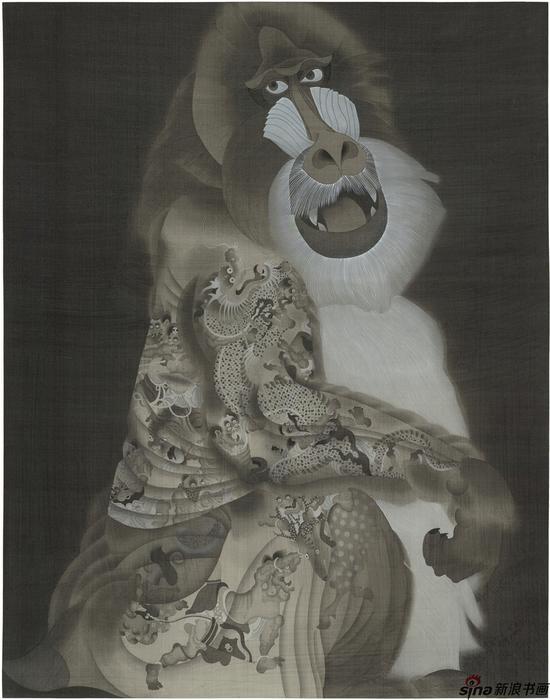 《魈》,120×80厘米,绢本工笔,2015年