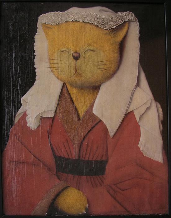 张凯 《猫1》50x40cm 布面油彩2007年