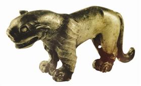 战国时期圆雕动物银饰鉴赏