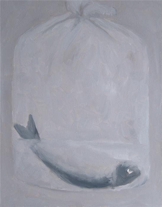 鱼 布面油画 40X50CM 年代2014 查大维