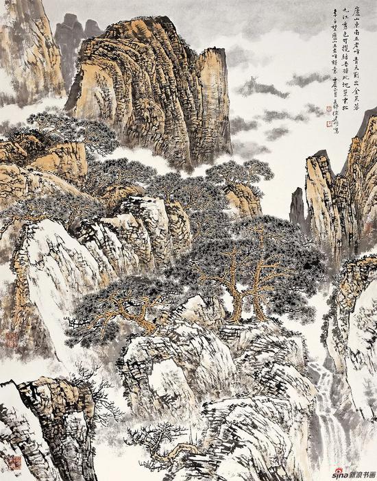 李白诗意 180×145cm 2010年