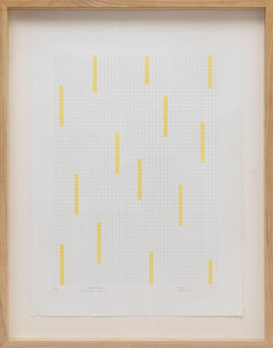 下落的光-銅版畫\BFK純棉版畫紙、夏勃納油墨-56x76cm-盧柏年- 2018