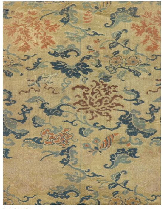 清 花草纹类锦
