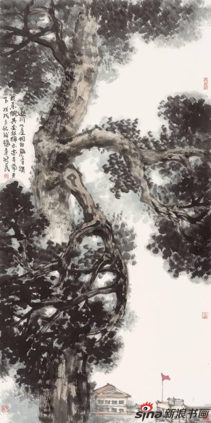 游新民作品《天下第一金丝楠》68X138cm