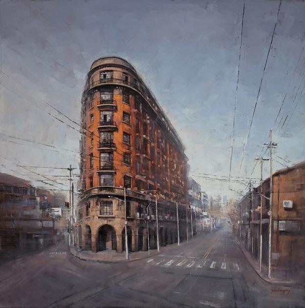 诺曼底公寓 100x100cm 布面油画
