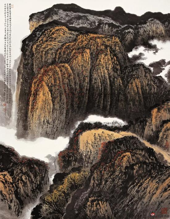 秦岭雄秀 180×145cm 2011年