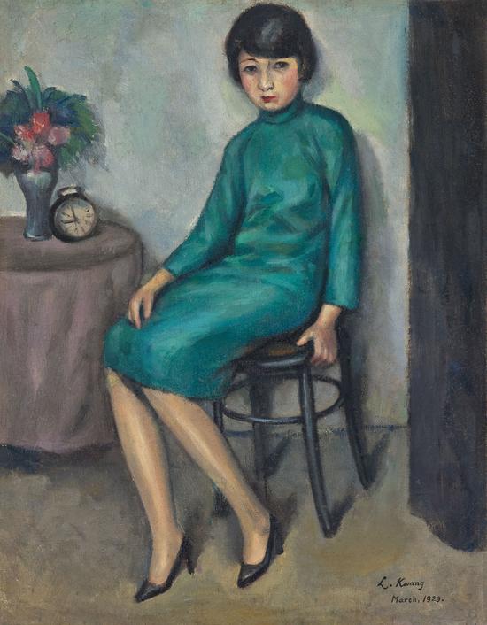 ▲2018西泠秋拍  关良唯一有详实史料记录、市面上最早被刊载的油画作品《少女》  成交价:356.5万元